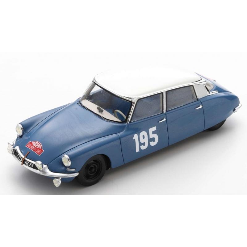 SPARK S5533 Citroen DS19 n°195 Neyret Monte Carlo 1963