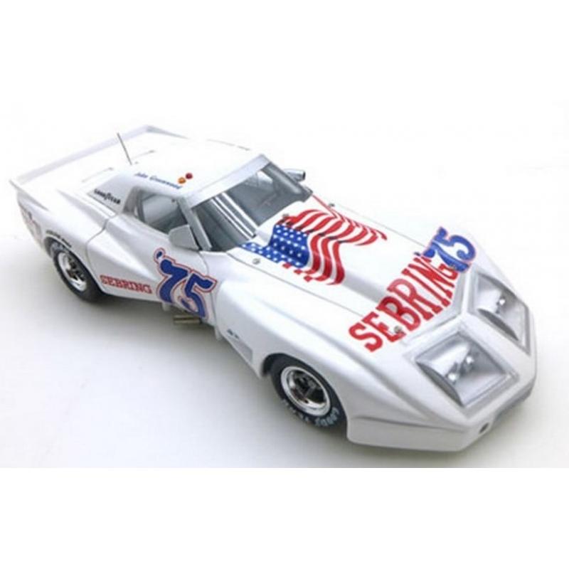TRUESCALE TSM114330 Greenwood Chevrolet Corvette n°75 12H Sebring 1975