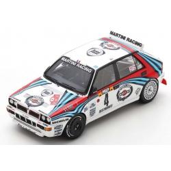 SPARK S9015 Lancia Delta HF Integrale n°4 Auriol Winner Monte Carlo 1992