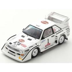 SPARK S7896 Audi Sport quattro S1 E2 n°1 Mikkola Vainqueur Rally Olympus 1985