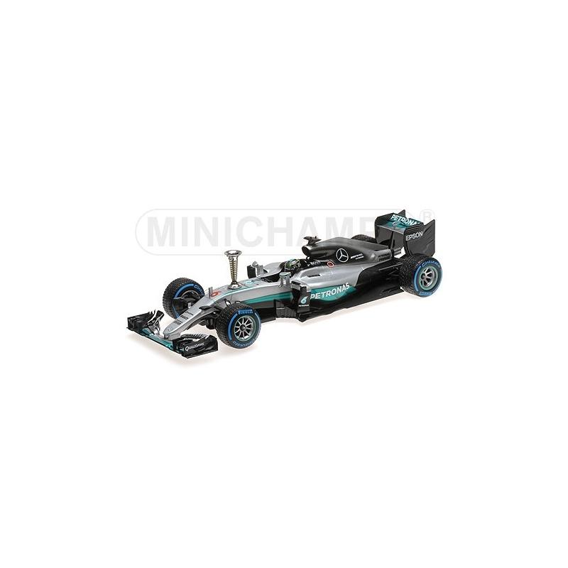 MINICHAMPS 1/18 Mercedes W07 Rosberg Champion du Monde 2016