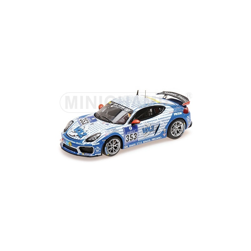 MINICHAMPS Porsche Cayman GT4 Clubsport n°353 24H Nurburgring 2016