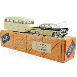 NOREV CL5711 Simca Vedette Chambord 1958 & caravane Hénon