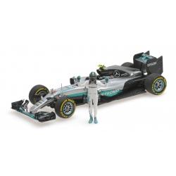 MINICHAMPS Mercedes W07 Rosberg World Champion 2016 (With figurine)