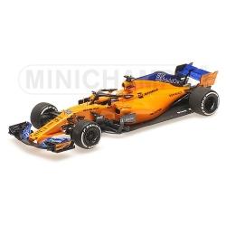 MINICHAMPS 537186455 McLaren Renault MCL33 Sainz Test Abu Dhabi 2018